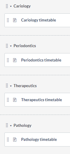 Module labelled by topic