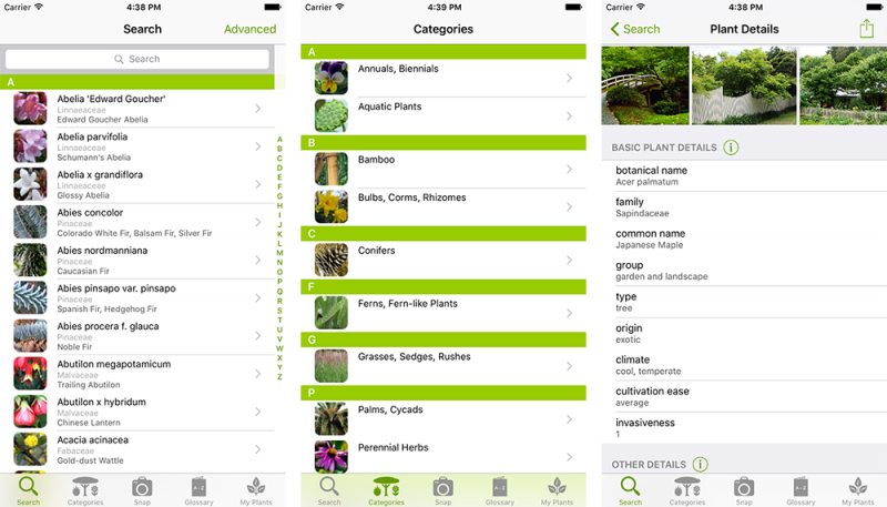 Burnley Plant guide iOS app
