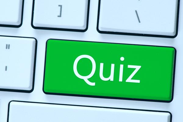 Quiz letters on keyboard