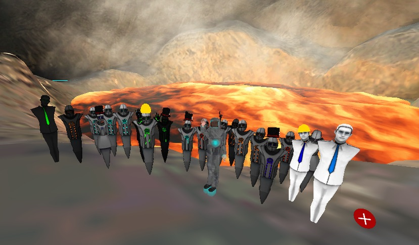 Altspace volcano group photo