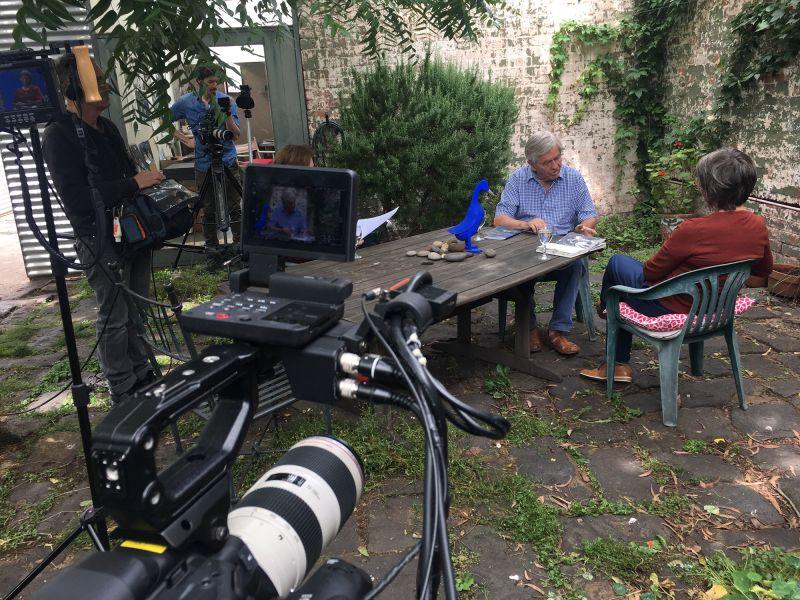 Recording Chris Wallace-Crabbe and Kristin Headlam's conversation